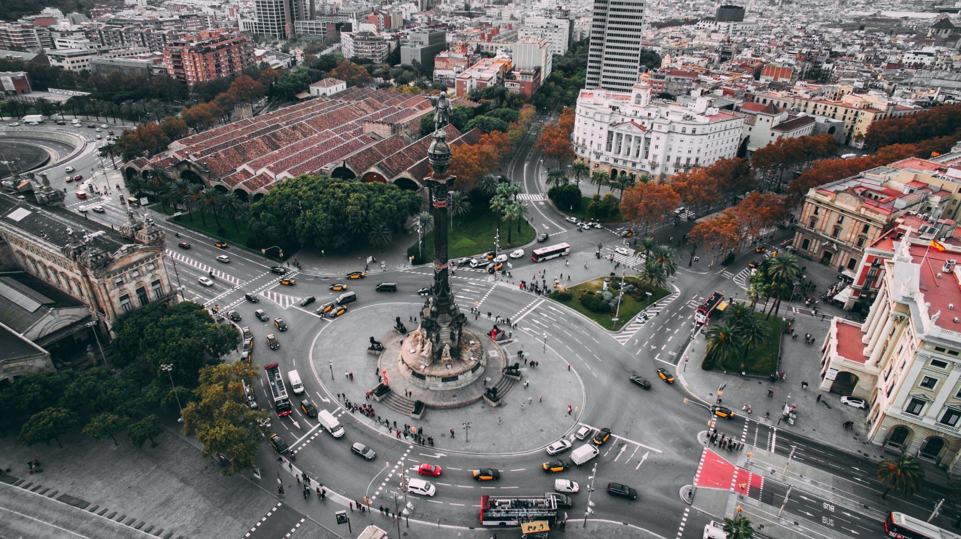 Фото город Барселона, Испания (1002846421)